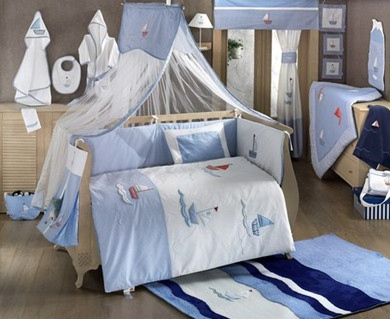 Babybettwäsche Blue Marine 9 Teiliges Set
